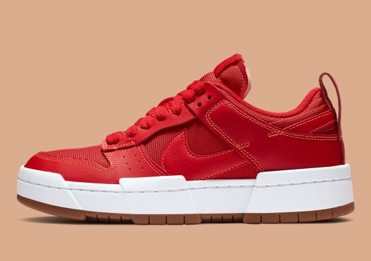 The Nike Dunk Low Disrupt Gets Red Leather Uppers