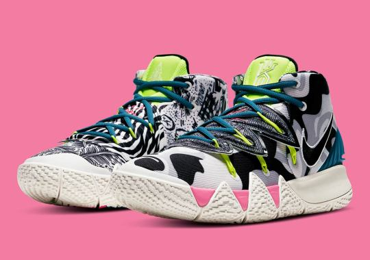 "The Nike Kybrid S2 Pairs Neon Accents With A ""What The"" Set Of Patterns"