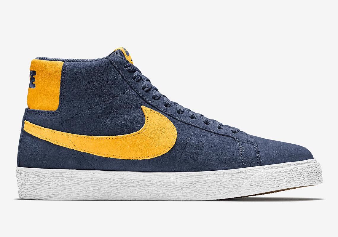 Nike SB Blazer Mid 864349-402 Michigan Release | SneakerNews.com