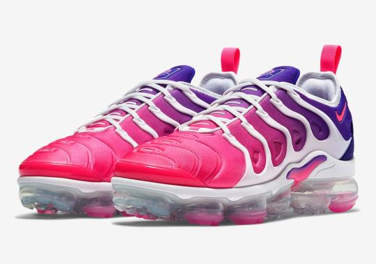 The Nike Vapormax Plus Gets A Hot Pink To Purple Gradient