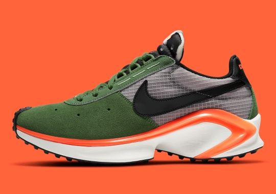 The Nike Waffle D/MS/X Arrives In Forest Green And Vibrant Orange