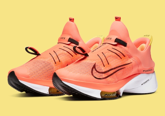 The Nike Zoom Tempo NEXT% FlyEase Gets A Bright Mango Treatment