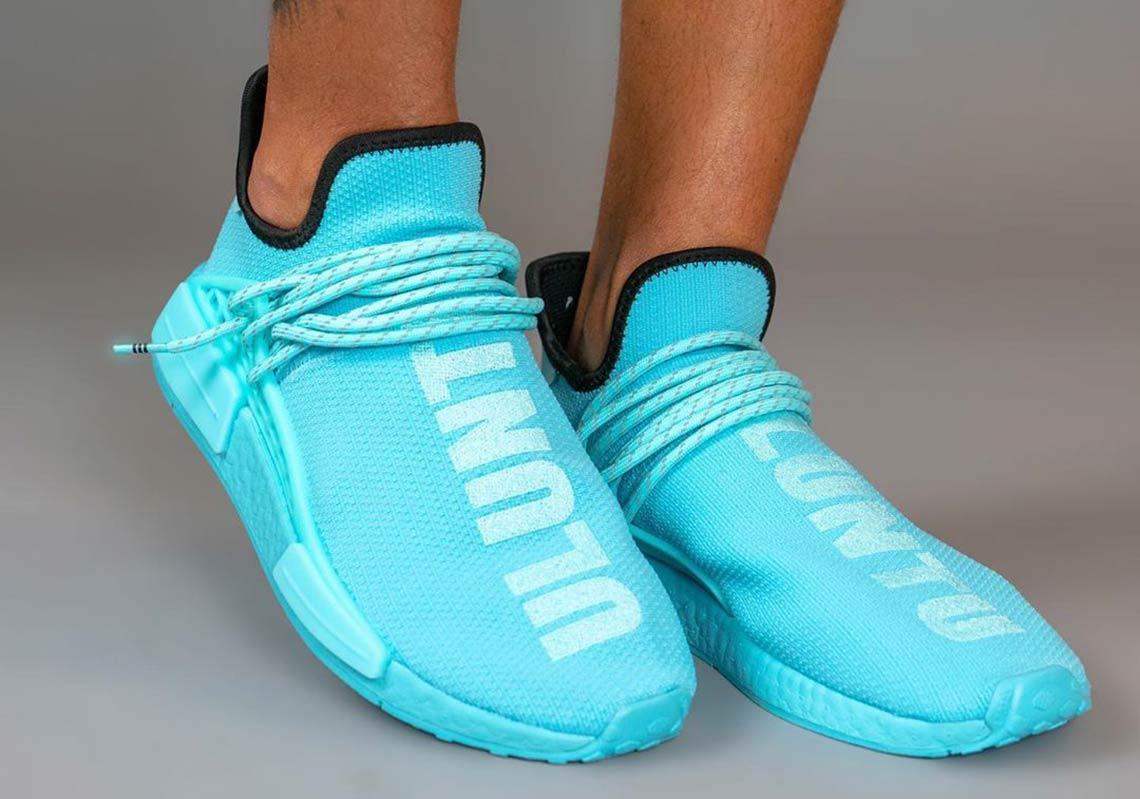 adidas hu shoes blue