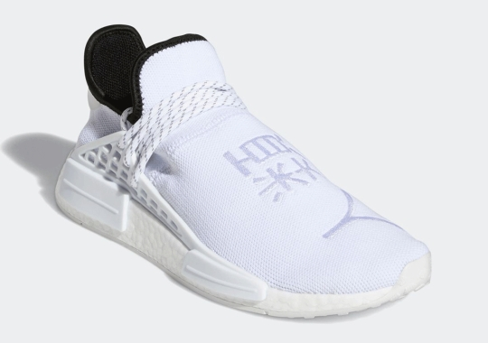 The Pharrell x adidas NMD HU Gets An All-White Look With Chinese Lettering