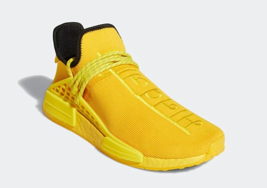 Pharrell x adidas NMD Hu Appears In A Monochromatic Yellow With Hindi