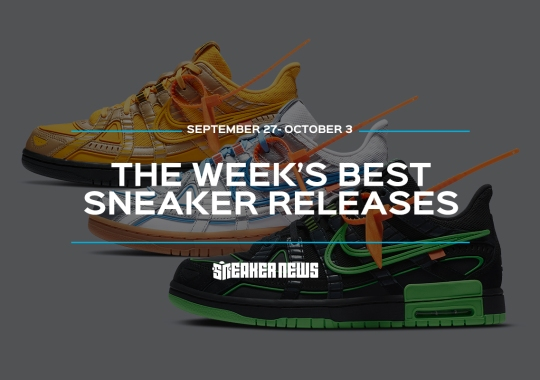 "The Off-White x Nike Rubber Dunks And Union x Air Jordan 4 ""Off Noir"" Headline This Week's Best Sneaker Releases"
