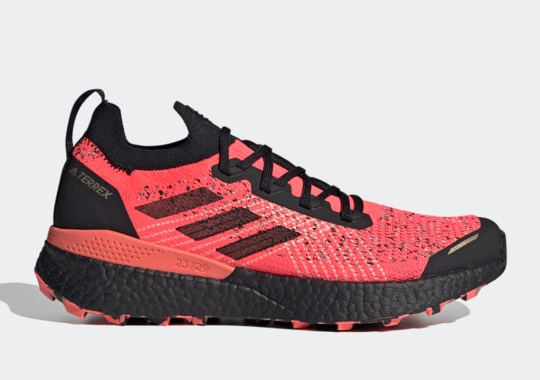 The adidas TERREX TWO Ultra Parley Just Dropped In A Vivid Signal Pink
