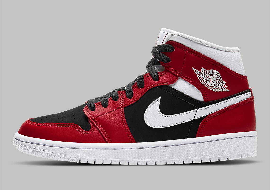 "Air Jordan 1 Mid WMNS ""Gym Red"" Flips Classic Chicago Colors"