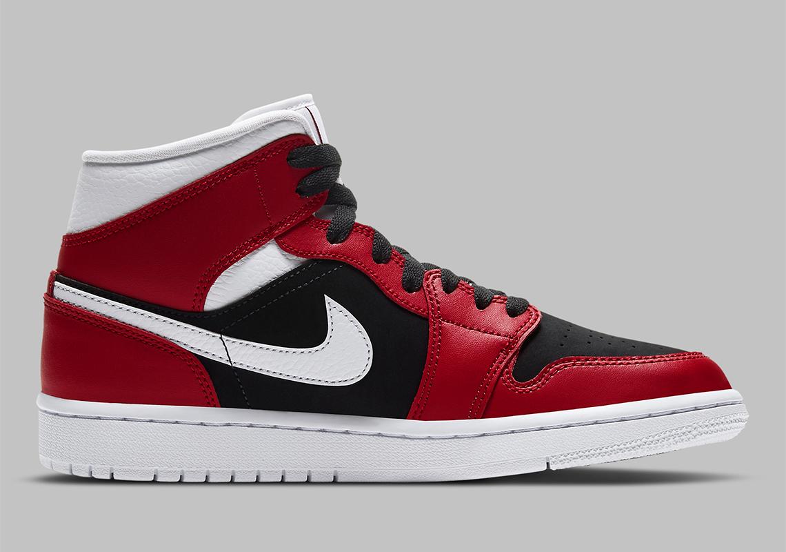 Air Jordan 1 Mid WMNS Gym Red Black BQ6472-601   SneakerNews.com