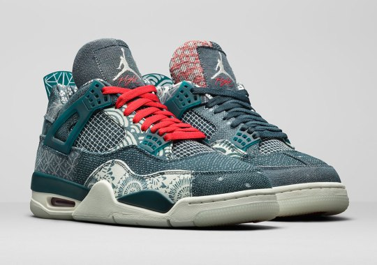 """The Patchworked Air Jordan 4 """"Deep Ocean"""" Will Release Outside Of North America"""