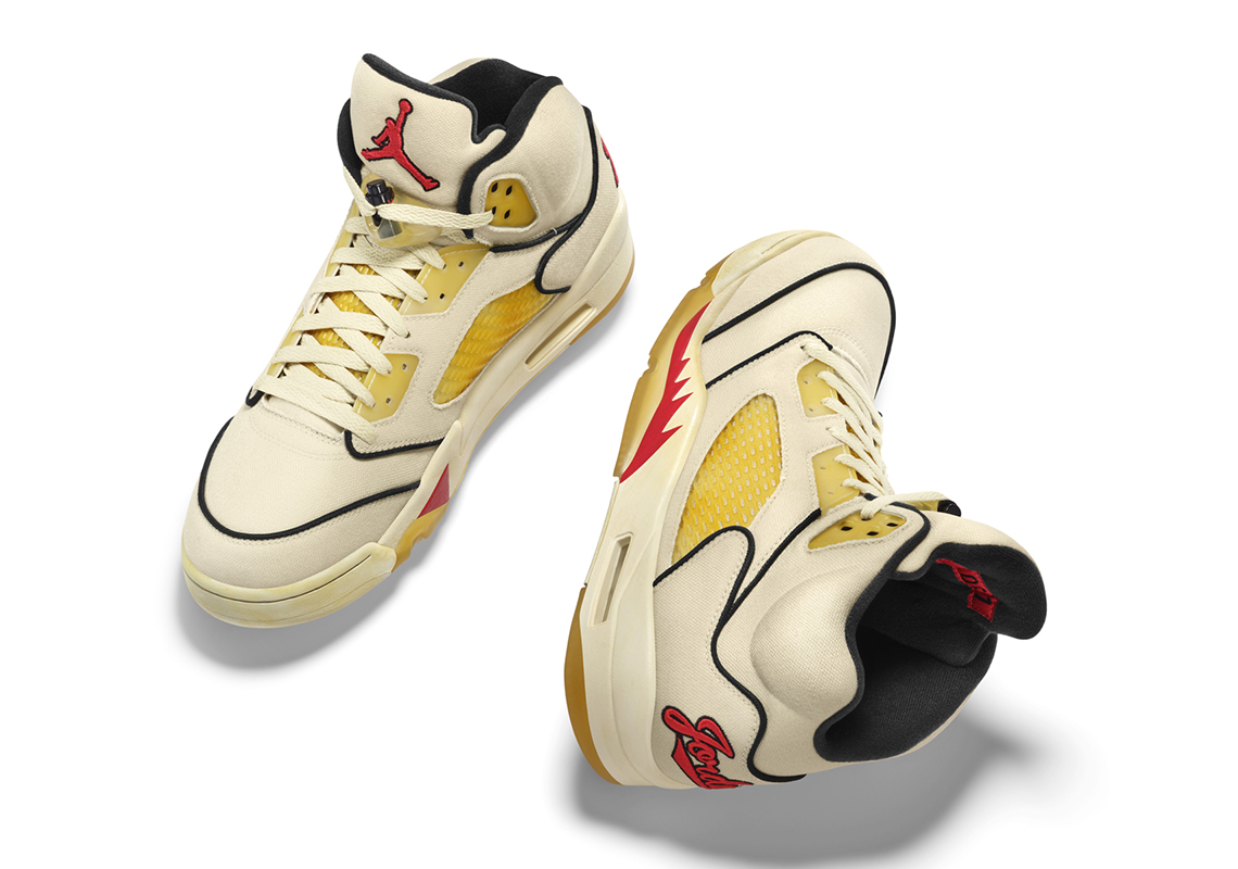 Air Jordan 5 Baseball PE White Navy Red