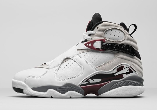 "An Air Jordan 8 Retro ""Burgundy"" Is Releasing Exclusively For Women"