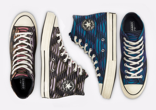 A Dimensional Vibrant Knit Covers The Converse Chuck 70