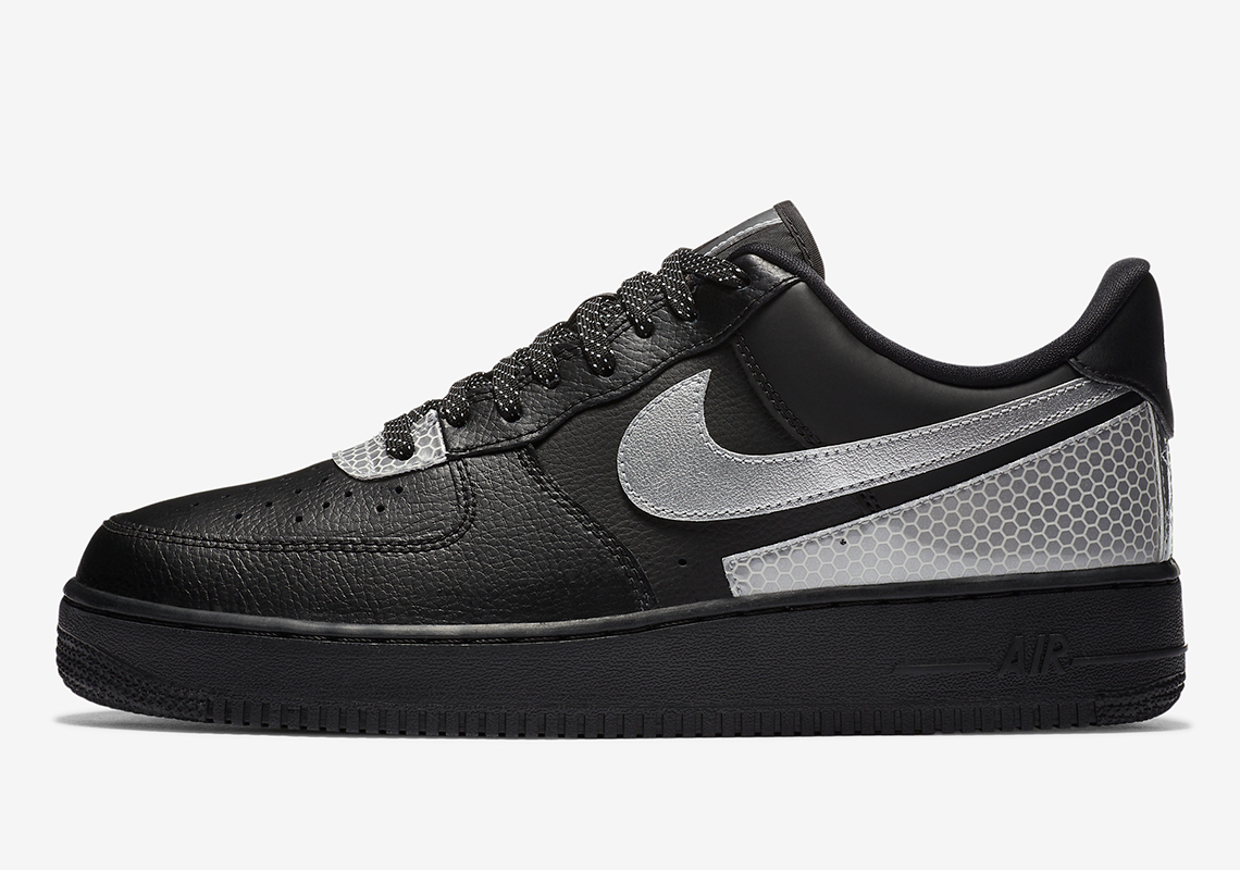 3M Nike Air Force 1 Low Black Silver