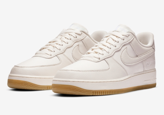 The Nike Air Force 1 Low GORE-TEX Pairs Sail Uppers With Gum Bottoms