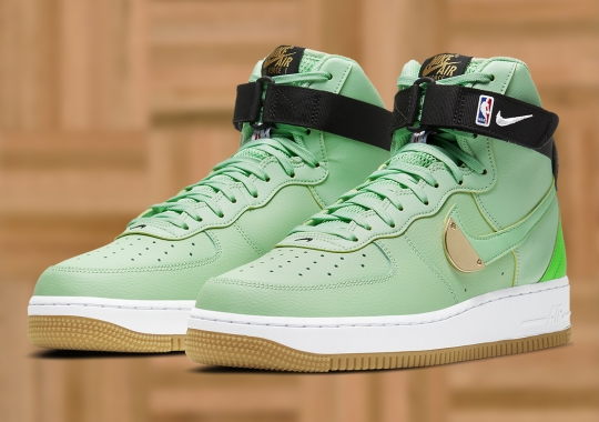 The Nike Air Force 1 High NBA Varies The Lucky Celtics Green Colorway