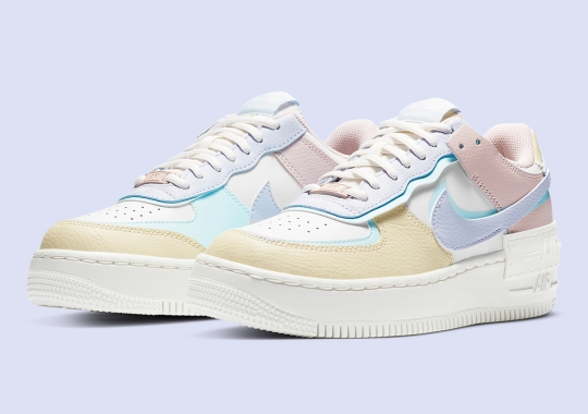 The Nike Air Force 1 Shadow Appears In A Soft Easter Pastels