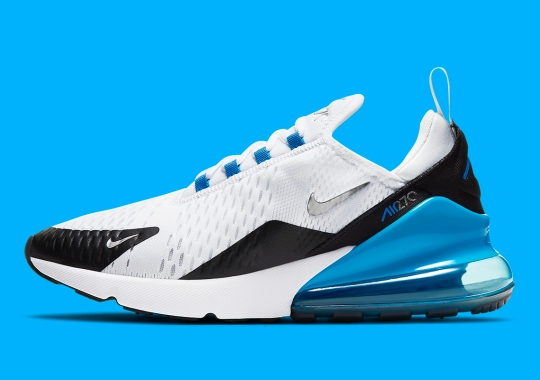 "The Nike Air Max 270 Perfectly Embodies The Classic ""Laser Blue"" Colorway"