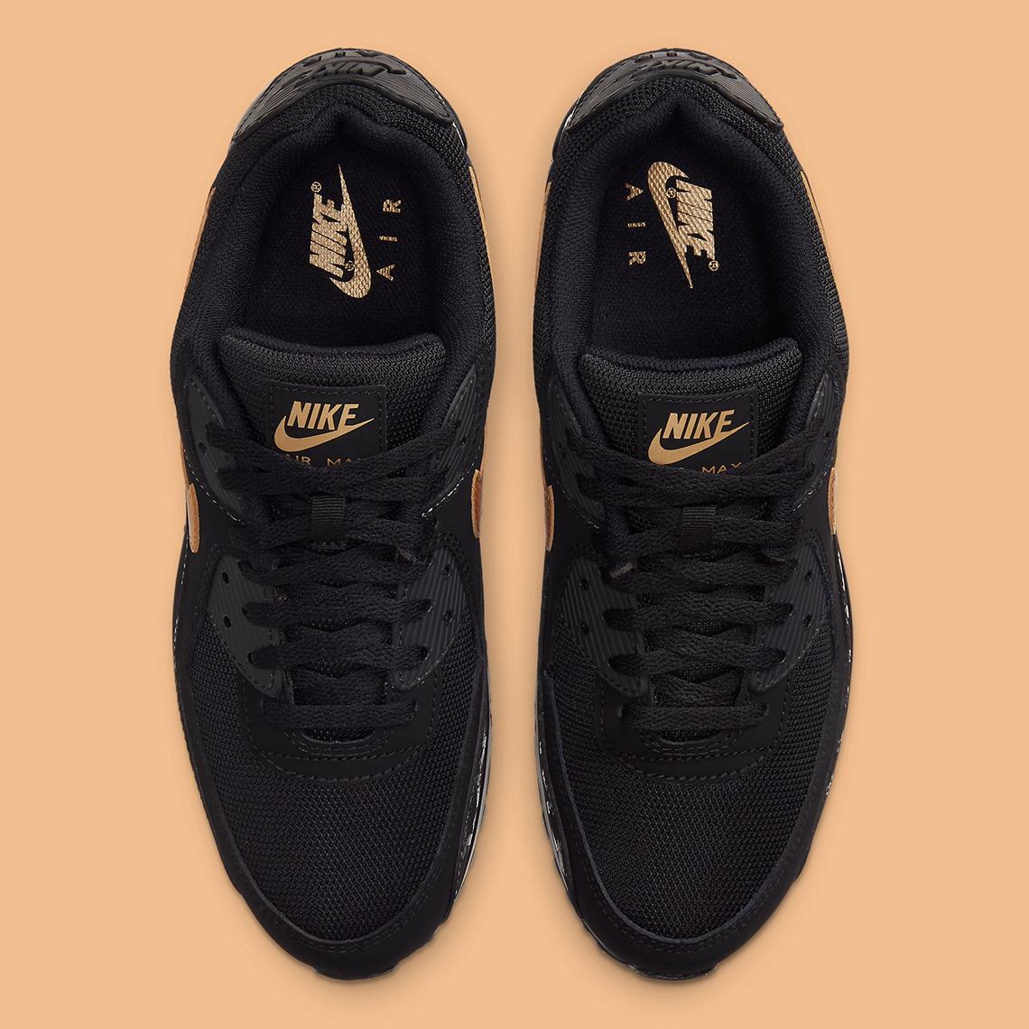 Nike Air Max 90 Black Gold DC4119-001 | SneakerNews.com