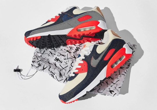 The Denham x Nike Air Max 90 Releases On September 25th