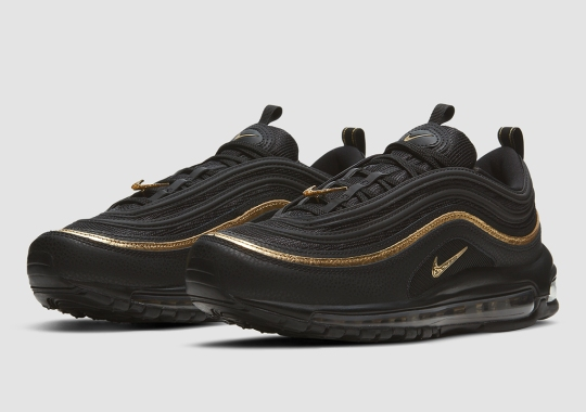 Black And Gold Accents Cover The Nike Air Max 97