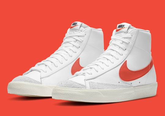 Nike Adds Crimson Swooshes To The Blazer Mid '77