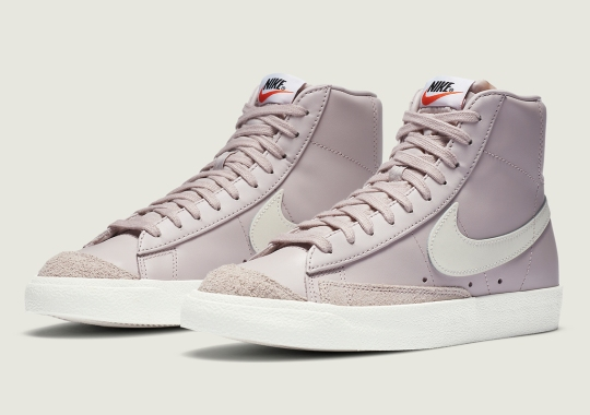 Mauve And Beige Pair Up On Latest Womens Nike Blazer Mid '77