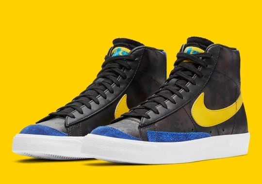 """Nike's """"Peace, Love, And Basketball"""" Collection Welcomes A Warriors-Inspired Blazer Mid"""