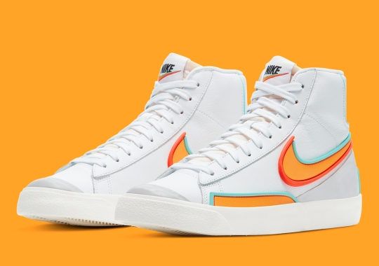 Nike's D/MS/X Division Adds Rubber Overlays Onto The Blazer Mid
