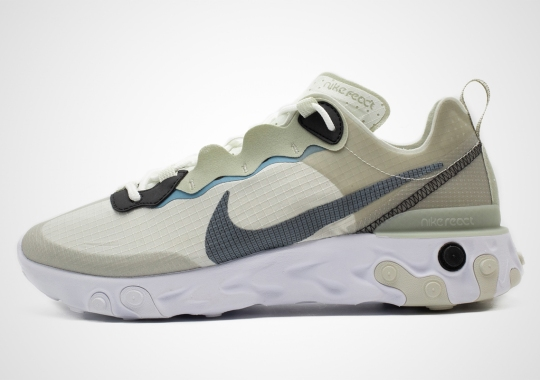 Light Beige And Grey Converge On This Casual-Friendly Nike React Element 55