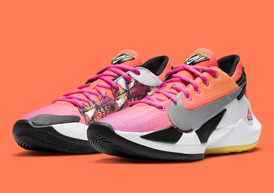 The Nike Zoom Freak 2 NRG Utilizes Colors Of The Sunset
