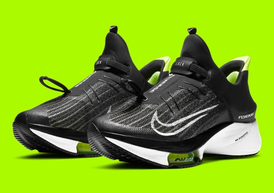 The Nike Air Zoom Tempo NEXT% FlyEase Is Revealed In Black, White, And Volt