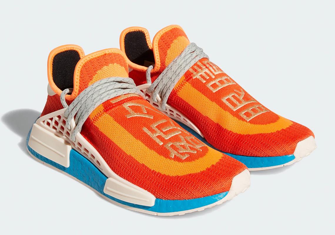 Pharrell adidas NMD Hu Bold Orange