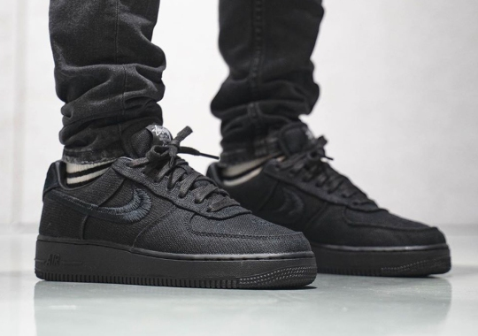 Stussy Doubles Up On Nike Air Force 1 Low Collaboration With Black