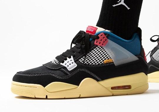 """Where To Buy The Union LA x Air Jordan 4 """"Off Noir"""""""