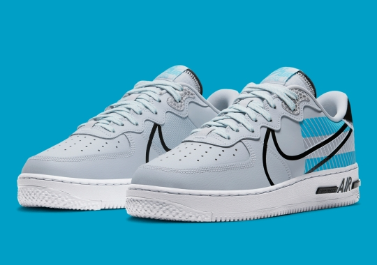 Nike Air Force 1 React LX Pairs Up Pure Platinum And Baltic Blue
