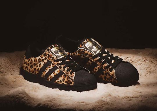The adidas Superstar Collaborations Continue With This Hairy Leopard By atmos