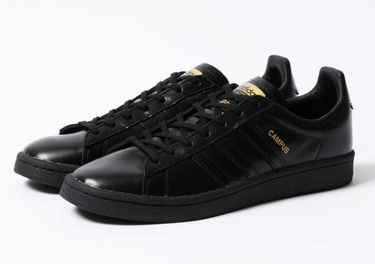 Beauty & Youth Dresses The adidas Campus In Glossy Black Leather