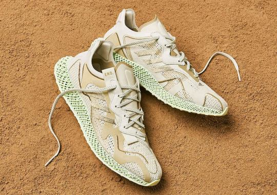 "END Applies A Sandy ""Dune"" Colorway To The adidas 4D"