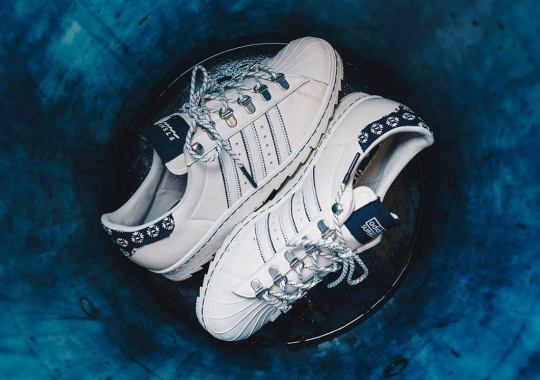 Footshop Adds Ripple Soles, Traditional Patterns, And D-Ring Lacing To The adidas Superstar