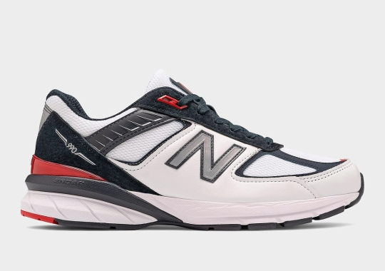 New Balance 990v5 Pairs Up Carbon And Team Red For November Arrival