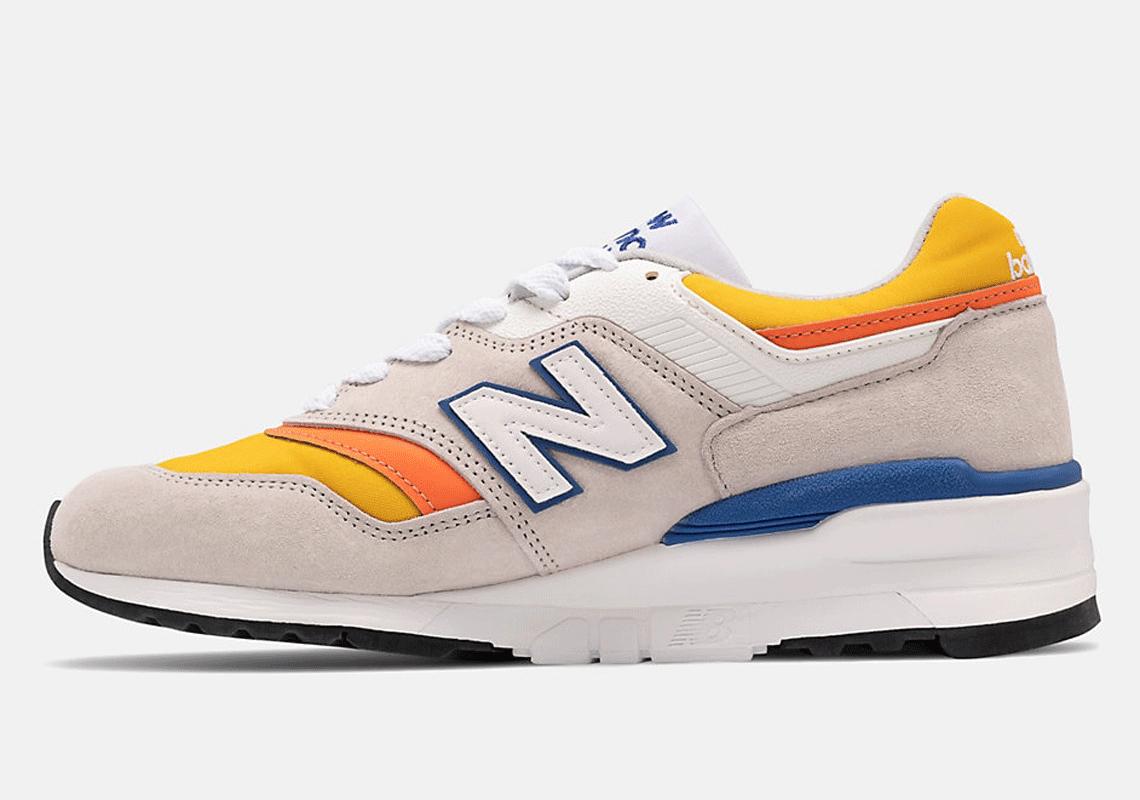 new balance 997 grey orange