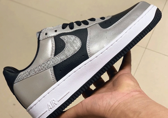 Another Nike Air Force 1 B From 2001, The Reflective Snake, Is Making A Return