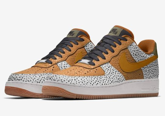 The Nike Air Force 1 By You Adds Safari Print To Its List Of Options