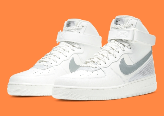 A Crisp White Nike Air Force 1 High Gets Covered In 3M Reflective
