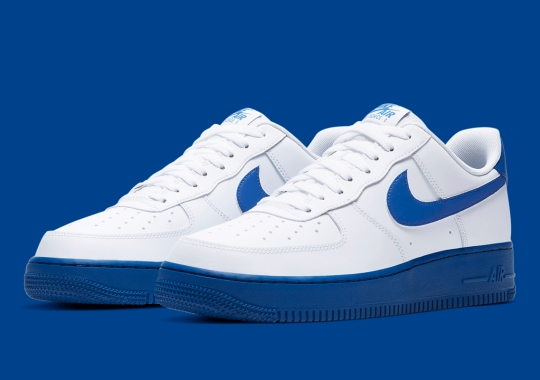 Nike's Solid-Colored Air Force 1 Soles Continue With Varsity Royal
