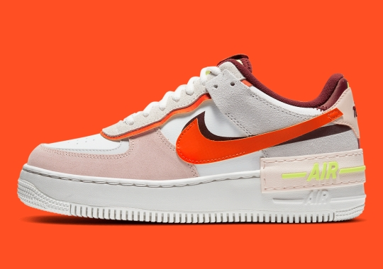 The Nike Air Force 1 Shadow Shades In Team Red And Orange On A Neutral Body