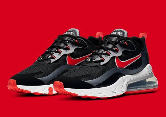 "Nike Air Max 270 React Gets a Classic ""Bred"" Look With Silver Accents"