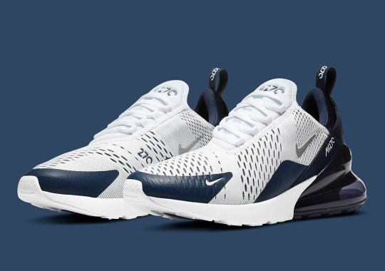 The Nike Air Max 270 Opts For A Simple White And Midnight Navy Colorway