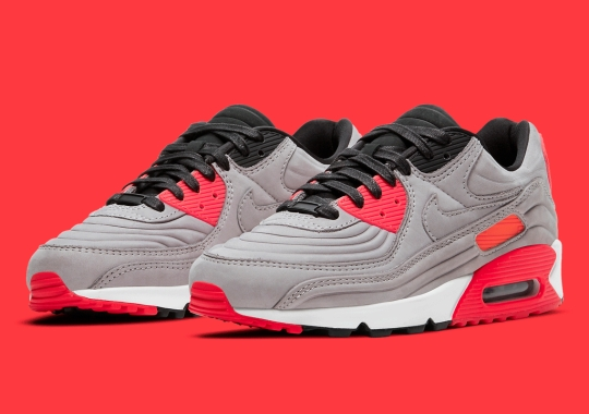 This Nike Air Max 90 QS Lux Features A Night Silver Upper With Molded Ridges